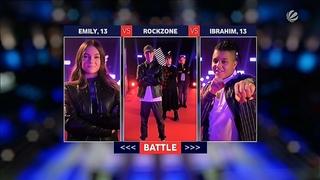 Emily & Rockzone & Ibrahim    Alphaville - Big in Japan    The Voice Kids 2021 Battle (Germany)