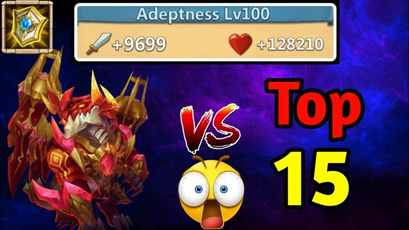 100 Adeptness Level 💪 Strongest Dynamica Vs Top 15 Beast Who can beat him Castle Clash