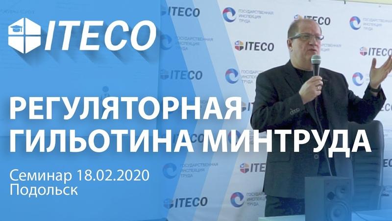 Семинар Регуляторная гильотина Минтруда Цирин И В ITECO