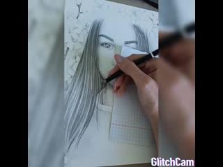 Маленький отрывок из создания портрета, для вас)💝💝💝