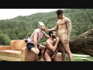 LucasEntertainment - Uncut In The Great Outdoors, Sc.4 - James Castle, Apolo Fire, and Dani Robles Raw Forest Fuck (FHD)