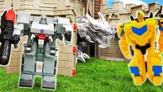 Игры с трансформерами: Десептиконы охотятся на Энергоблок! Трансформеры в видео для мальчиков