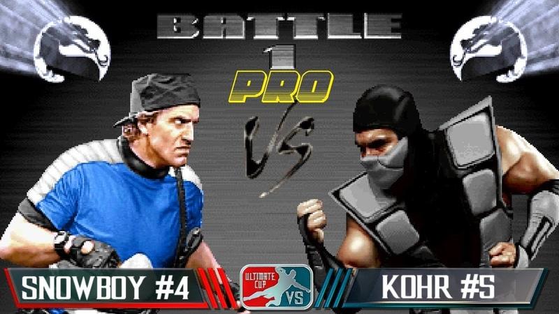 UMK3 ARCADE RATING PRO Snowboy 4 vs KOHR 5 бой вечера FREE PLAY