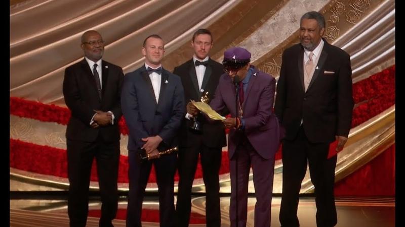 Watch Spike Lee's Oscars 2019 Speech for BLACKkKLANSMAN vk.comtopnotchenglish