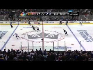 Slava Voynov broken stick goal 2-0. 6/4/13 Chicago Blackhawks vs LA KingsNHL Hockey