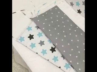 Хлопковая детская кроватка, дышащая накладка на кроватку, моющаяся мягкая накладка на кроватку, набор для мальчиков и девочек,
