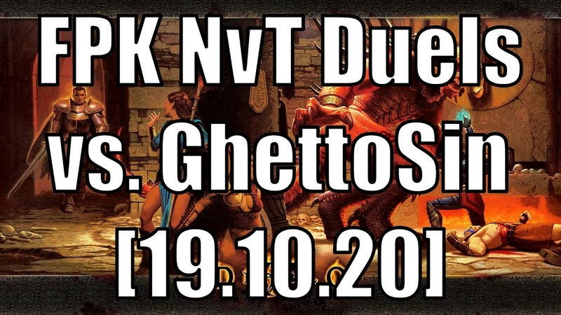 Diablo II FPK NvT Duels vs GhettoSin D2GA Server 19 10 20