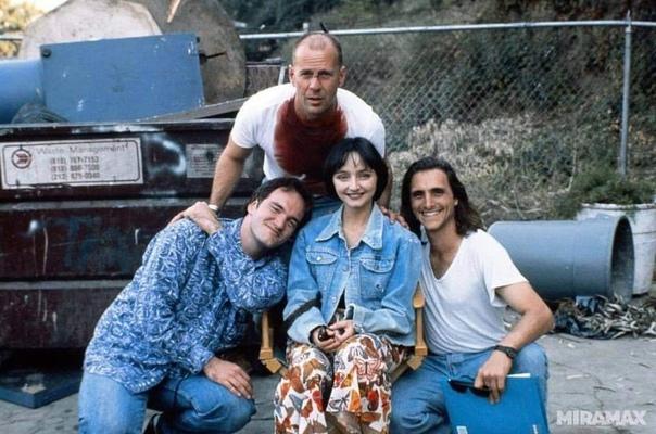 Нa съёмках «Криминального чтива», 1993 год