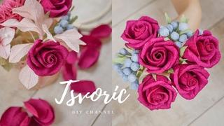 ПРОСТЫЕ розы / 8 МАРТА / ВСЁ о бумаге для цветов / DIY TSVORIC