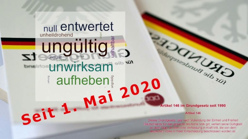 BRiD seit 1 Mai 2020 nicht mehr existent│ALLE Amtshandlungen illegal│GEZ illegal│US Army Europe!