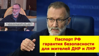 Сергей Михеев Паспорт РФ гарантия безопасности для жителей ДНР и ЛНР