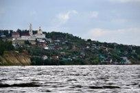 23 июля 2013 Вид с Волги на села Матюшино и Ключищи в Республике Татарстан