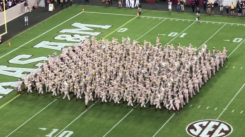 Fantastic Fightin Texas Aggie Band First Halftime Drill of 2019