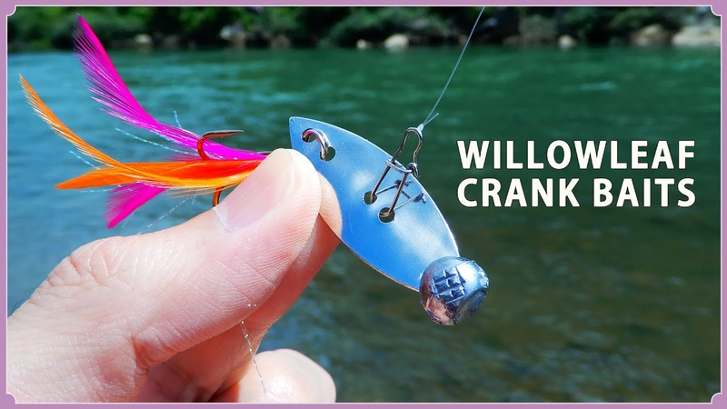 How to make a Metal baits using willow leaf blades ウィローリーフブレードで自作するメタル系クランクベ 1