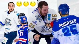 "Дамир избил всю команду Китайцев. ""Барыс"" vs ""Кунь-Лунь"" КХЛ хоккей"