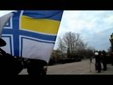 Севастопольские курсанты пели гимн Украины во время поднятия флага России
