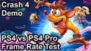 Crash Bandicoot 4 PS4 vs PS4 Pro Frame Rate Comparison (Demo)