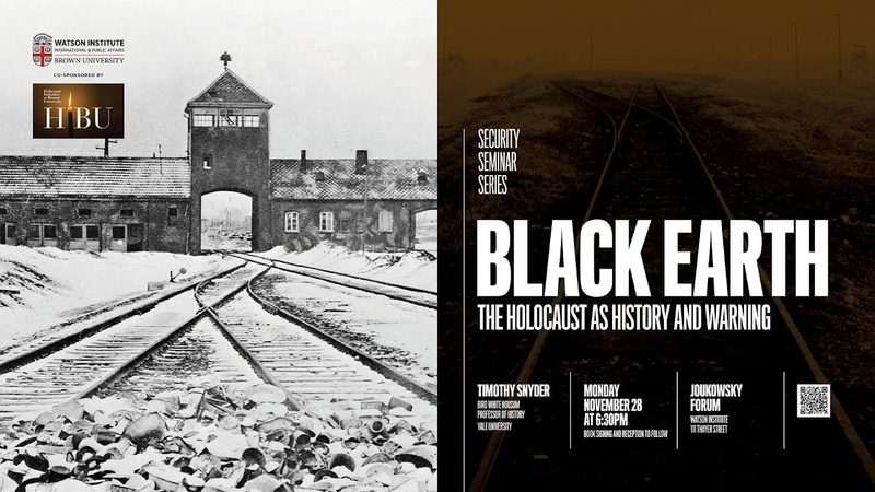 Timothy Snyder ─ Black Earth The Holocaust as History and Warning