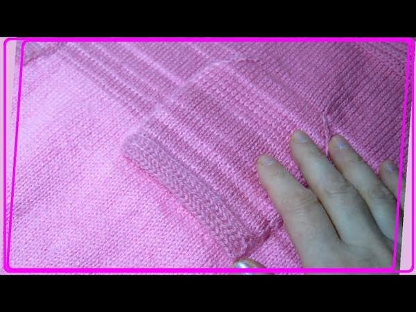 Платье Часть 4 Накладные карманы без пришивания сверху вниз круговыми рядами