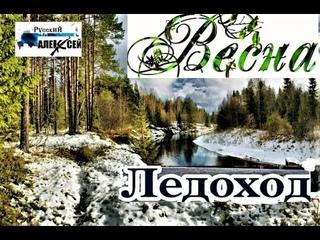 Красивая Природа весеннего леса России под мелодию Русской народной музыки. Ледоход на реке в Твери