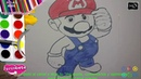 Cómo Dibujar y Colorear al Super Mario 2020 🌷 Niños🌷 How To Draw Super Meio 🌷Kids 🌷
