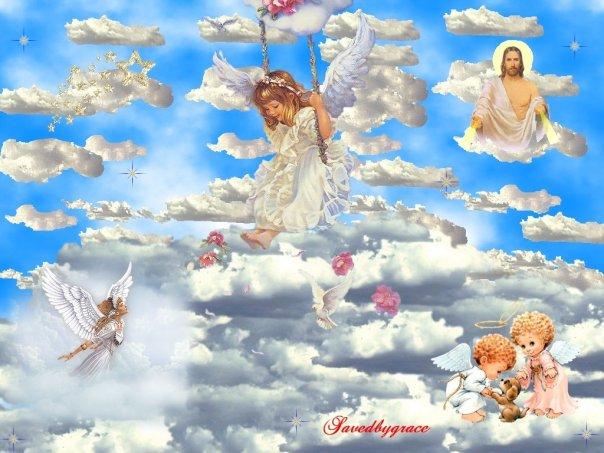 Картинка ангелочки в небеса