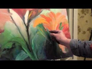 Мастер-класс масляной живописи. Пишем цветы - лилии