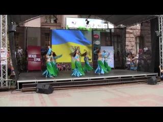 """Молодший склад """"Орхідеї"""", на фестивалі """"Феєрія танцю"""" м. Київ виступ на Хрешатику"""