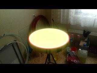 Светящийся стол золотой