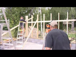 3. Runko ja kattotuolit - строительство каркаса и крыши