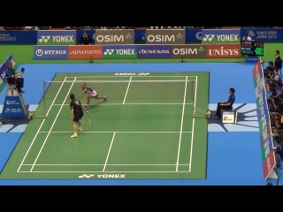 Maybe the most amazing 'defense' in badminton history - by Marc Zwiebler in 2013 Japan Open
