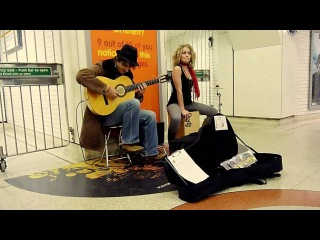 Fernando's Kitchen Busking in Liverpool street station May 2010
