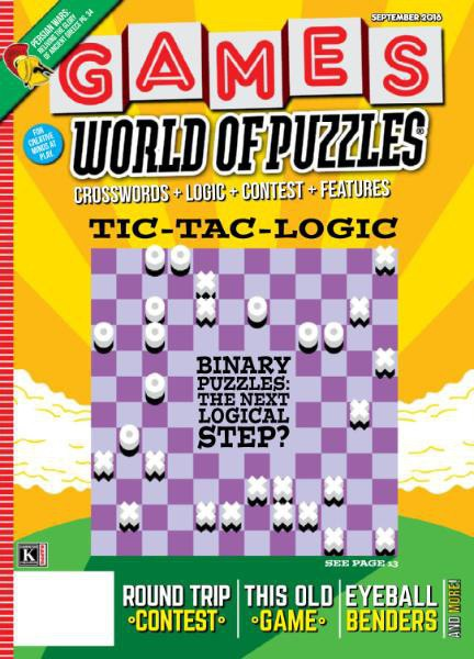 Games World of Puzzles - September 2016