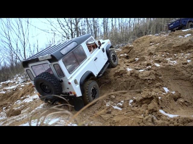Rc Land Rover defender 90 WhiteBrit feat defender 110 HCPU hill climb