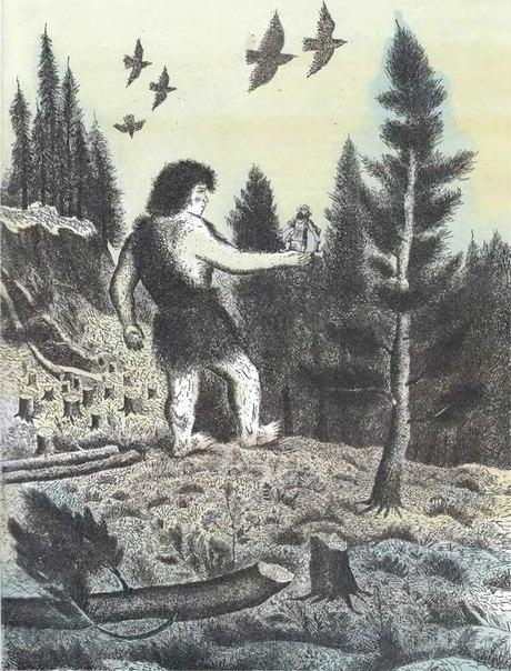 картинка удмуртского сказочного героя алангасара таких патологий