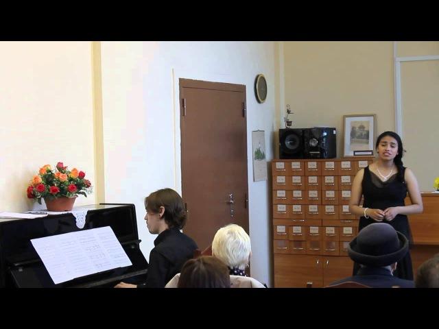 Джессика Ойос сопрано и Мануэль Сампедро фортепиано
