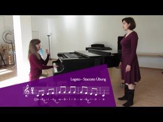 Gesangstechnik / Vocal technique: Staccato exercise / Übung (Demo)