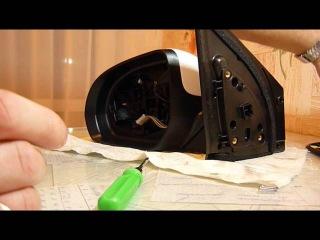 как разобрать боковое зеркало киа рио-3 (часть1)