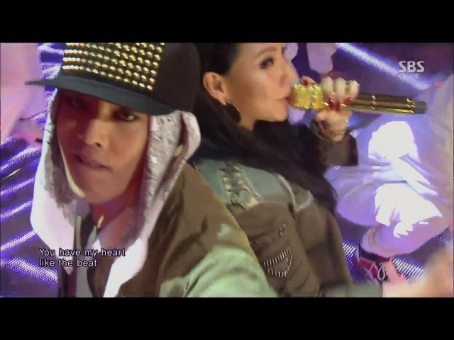 G-DRAGON_0929_SBS Inkigayo_R.O.D(Feat. CL) 삐딱하게_No.1 of the week