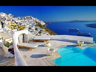 Вокруг света. Остров Санторини (Греция)