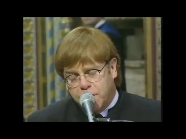 Elton John Candle in the Wind Goodbye England's Rose Live at Princess Diana's Funeral 1997