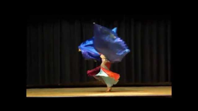 TRIPLE Isis wings to the song Asfur belly dance by Iana