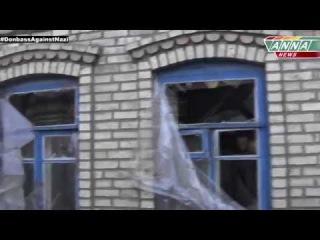 """ДНР. Старомихайловка. """"Подарки"""" к учебному году от укропской армии."""