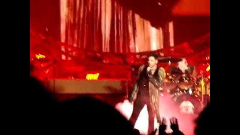 Queen Adam Lambert LOTG SSOR Killer Queen I Want to Break Free Prague 02 17 2015