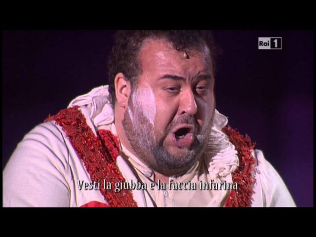 Recitar Vesti la giubba 11 06 2013 Arena di Verona 2013 Lo spettacolo sta per iniziare