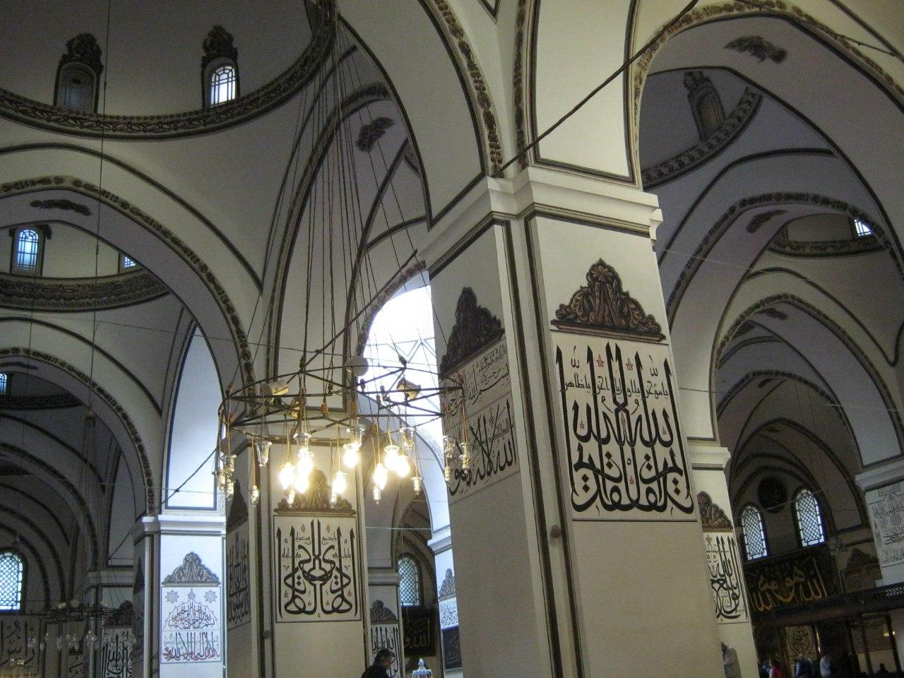 Великая (Ulu) мечеть в Бурсе