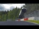 Нереальная авария Renaul Megane RS на Нюрбургринге! P.S. с водителем всё в полном порядке