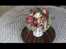Цветочная композиция(букет) ОАЗИС в подарок ♥Пион, Розы, Альстромерия, Гипсофила, Берграсс♥ на заказ