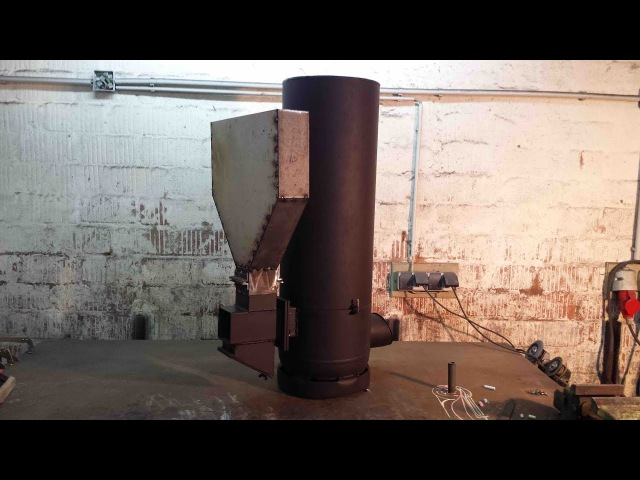 Hybrid Raketenofen Umbau des alten Ofens Hybrid Rocket Stove