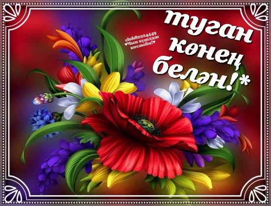 Анимация, туган конгэ открытка татарча